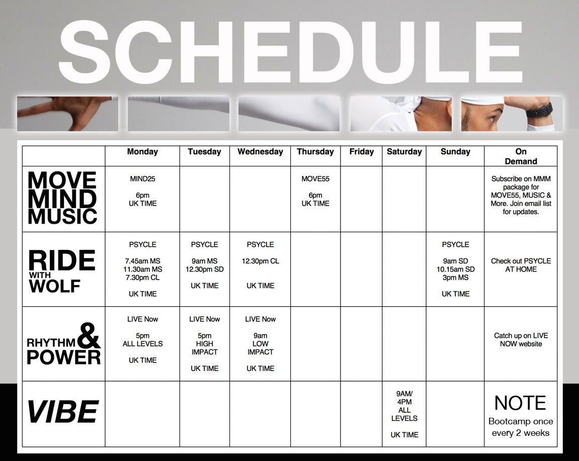 WolfMoves Schedule